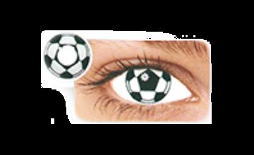 "Цветные линзы DREAMCON HERA ""Football"""